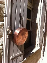 Gleaming Copper Pan (on a shutter)